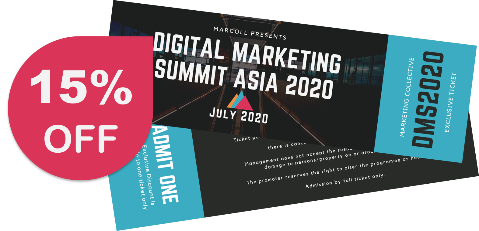 15% off Digitam Marketing Summit Asia 2020